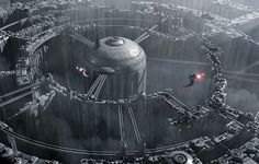 By Jean-François Liesenborghs // http://adoracion3d.cgsociety.org/art/city-3ds-sci-fi-max-spaceship-photoshop-star-wars-labyrinth-3d-1181876