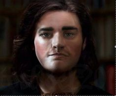 The facial reconstruction of Richard III produced by University of Dundee and funded by the Richard III Society