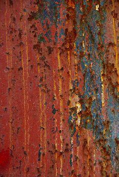 the glorious pattern and patina of rust Texture Art, Texture Painting, Metal Texture, Art Grunge, Rust Paint, Rust Never Sleeps, Peeling Paint, Nature Artwork, Rusty Metal