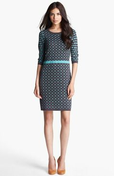 Ivy & Blu for Maggy Boutique Intarsia Sweater Dress available at #Nordstrom