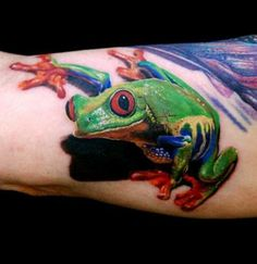 Great tree frog tattoo