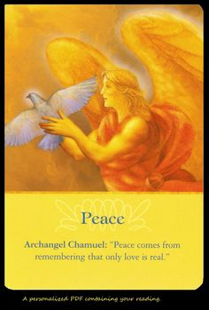 Psychological and Emotional Healing With Archangel Chamuel Psychic Reading with Oracle Cards via Etsy