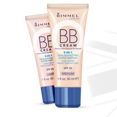 BB Cream from Rimmel Primes, moisturizers, minimizes pores, conceals, covers, smoothes and mattifies skin.