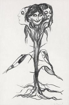 Edvard Munch, Amaryllis, lithograph