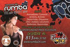 SE BUSCA TALENTO..Vamos Y Te Grabamos En Cualquier Parte Del Mundo. Registrate Ya..Es Gratis.. Visita www.rumba24.com