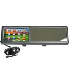 4.3 Inch Bluetooth Rearview Mirror GPS 4GB + Night Version Wireless Rear Camera