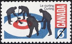 Curling by David Eales. Curling Canada, Olympic Curling, Mad Men Fashion, Curls, Rocks, Postage Stamps, David, Graphics, Games