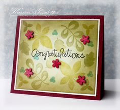 Peppermint Patty's Papercraft: Congratulations!