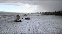 California's Huntington Beach Turned White by Hail Mar 2   climate change or HAARP?