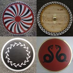 A symbolic design known as the episema was drawn or incised on the face of the shield, which had a ritual or heraldic significance. Episema of aspises (shields) - 3
