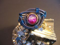 """One of four Cyberpunk rings from """"RotaAevum"""" can be won at """"Beads by Roni"""" in Fall Fashionista giveaway Oct 11-17! More details: http://beadsbyroni.com/2012/09/fall-fashionista-2012-teaser-post.html"""