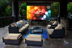 Make your patio an outstanding place to enjoy movies with your loved ones. Shop for our outdoor projection screens at http://www.elitescreens.com/products/outdoor-projection-screens