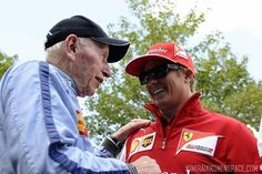 Kimi with John Surtees