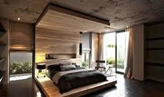 Interior design that transforms rough concrete architecture into a homely space. Nice work of Site Interior Design. Architecture by Greg Wright Architects. Interior Exterior, Interior Architecture, Modern Interior, Home Design, Spa Design, Home Bedroom, Bedroom Decor, Warm Bedroom, Bedroom Wall