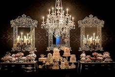 Lovely Wedding Cake and Dessert Tables. Reception Party, Wedding Receptions, Wedding Events, Weddings, Bridal Flowers, Flower Bouquet Wedding, Floral Wedding, Candy Table, Deco Table