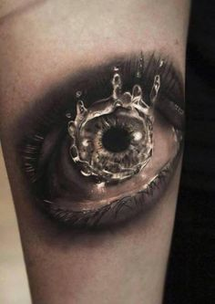 Eye tattoo.