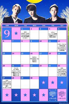 こちらもありがとう╰(*´︶`*)╯♡ RT @60suuchun02: ◆JYJ 9月スケジュールカレンダー