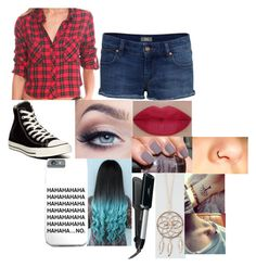 """""""The Flannel"""" by chloe-775 ❤ liked on Polyvore featuring Rails, IDA, Converse, She's So, Conair and Full Tilt"""