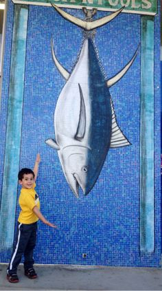 This little boy caught the largest #mosaic #tile #fish of the day! Photo by Gevik Nalbandian.