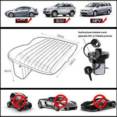 Inflatable Mattress Portable Floating Bed Travel Fits Most With Pillow For Car