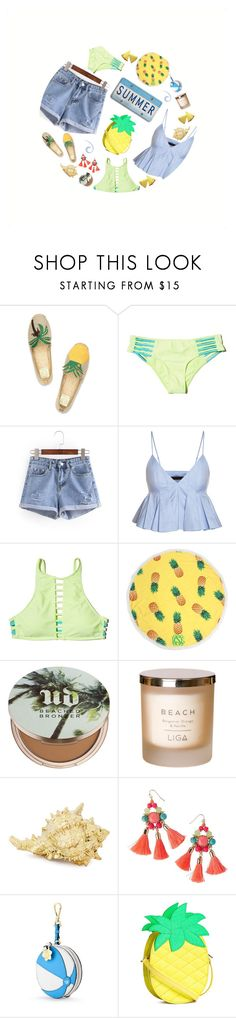 """""""Banana."""" by peonyandpython ❤ liked on Polyvore featuring Tory Burch, Hollister Co., Urban Decay, Lilly Pulitzer and Draper James"""