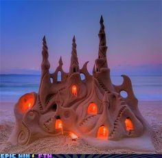 A mermaid once crept ashore and by the pale moonlight created an exact replica of Neptunes royal castle. The humans never guessed who built it and what it depicted - but there was great wondering at the fragile creation, that faded back into sand much too quickly