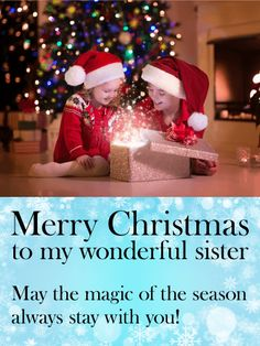 f005424b530 To my Wonderful Sister - Merry Christmas Card
