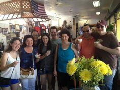LOS PINARENOS FRUTERIA on 13th Ave+8th Street-Enjoying guarapo juice at the Little Havana Food Tour