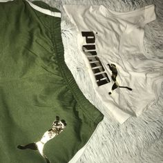 Image of Puma inspired 2 piece Sporty Outfits, Nike Outfits, Summer Outfits, Summer Clothes, Tomboy Fashion, Fashion Outfits, Tomboy Style, 2 Piece Outfits, Couture Fashion