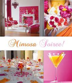 pink and orange wedding decor