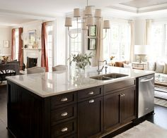 Spectacular kitchen island by Heather Garrett Design
