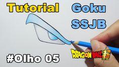 Como Desenhar Olho Goku SSJ Blue - Dragon Ball Super - How to Draw Eye G...