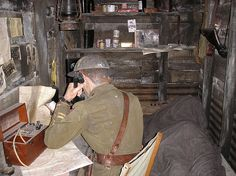 Officer in dugout, Trench Experience, IWM by cjdhall, via Flickr
