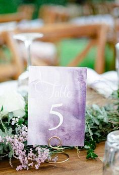 39 Lavender Wedding Decor Ideas You'll Totally Love Lavender Wedding Decor Ideas Youll Totally Love ★ lavender wedding decor ideas table number tessakit Lavender Wedding Decorations, Lavender Wedding Colors, Lavender Decor, Lavender Bridesmaid Dresses, Lilac Wedding, Beach Wedding Favors, Wedding Themes, Spring Wedding, Dream Wedding
