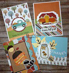 Scrapbook Cards, Scrapbooking, Cross Crafts, Bird Cards, Echo Park, Thanksgiving Cards, Fall Cards, Deck Of Cards, Fall Pumpkins