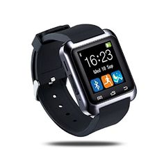 nice Transer Universal Bluetooth Smartwatch,Fitness and Activity Tracker Smart Wrist Watch,Compatible with Android iSO System Sport watches (Black)