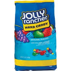 Jolly Rancher Hard Candy in Original Flavors, Cheap Clean Eating, Clean Eating Snacks, Jolly Rancher Hard Candy, Candy Dispenser, Sour Candy, Bulk Candy, Salty Cake, Favorite Candy, Candy Bags