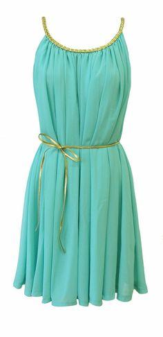 cute mint-blue dress