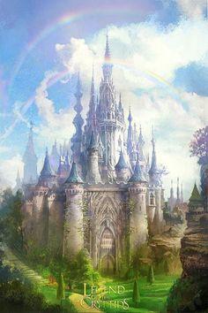 beautiful things Fantasy castle Fantasy landscape Fantasy city
