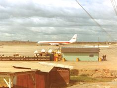 Arrival of TWA Charter Flight at Bien Hoa Air Base, Vietnam in August of 1967 - Trans World Airlines