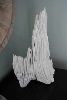 Painted driftwood as sculpture