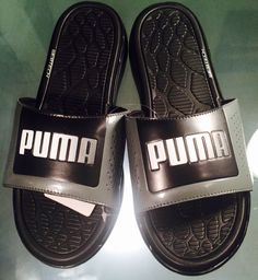 men shoes Puma Foamcat Slide Black Gray Webtech Sandals Slides Size 11 new   Puma   597f5334e