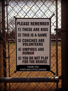 having had 4 boys in Little League...this would be great on every ballpark.