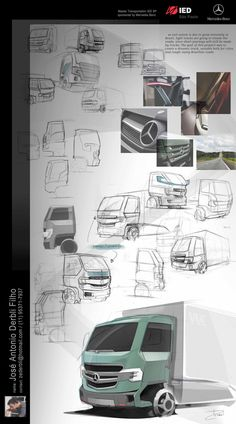 (IED) Mercedes-Benz light truck - work-in-progress by José Antonio Derbli, via Behance