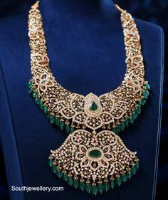 Jewelry Design Earrings, Emerald Jewelry, Diamond Jewelry, Gold Jewelry, Beaded Jewelry, South Indian Jewellery, Indian Jewellery Design, Jewellery Designs, India Jewelry