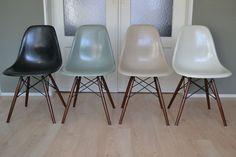 details zu 4x eames fiberglas chair stuhl dsw herman. Black Bedroom Furniture Sets. Home Design Ideas