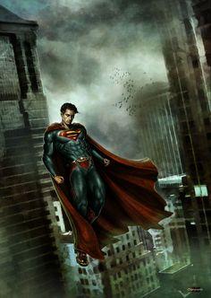 Portrait: Superman - 2D Digital, Concept art, Fantasy, Photoshop, PortraitCoolvibe – Digital Art