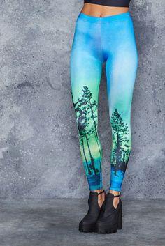 Aurora Skye Leggings - Black Milk Clothing