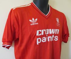 1985-87 Liverpool home shirt by Adidas.