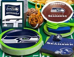 Seattle Seahawks Party Supplies, Favors, Gifts and Decorations